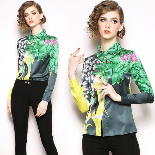 Womens Tops and Blouses Silk Blouse Women Long Sleeve Shirts Korean Fashion Clothing Ladies Blusas Femininas Elegante Plus Size