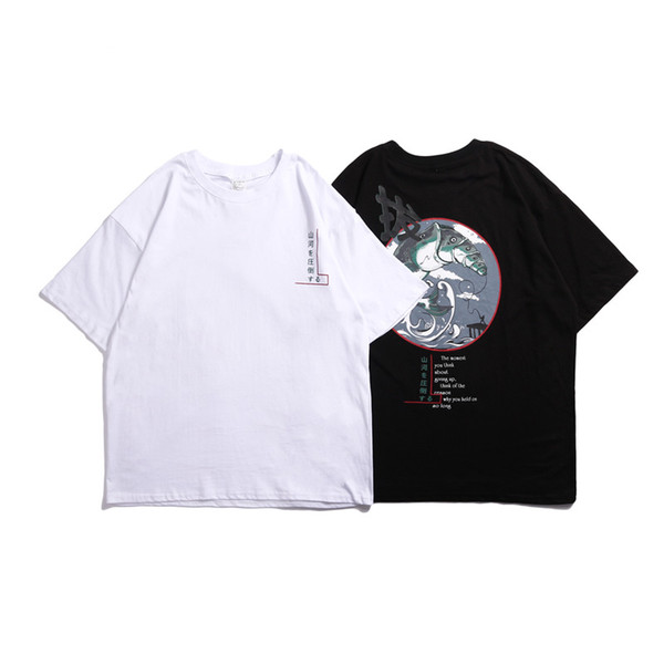 2019 Famou Trend Kadın Erkek T-shirt Klasik Pamuk Rahat Kısa Kollu Poloshirts Yüksek Kalite Hip Hop Spor Bluz Rahat Açık Tee
