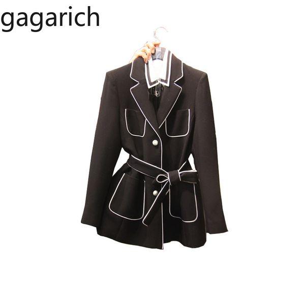 Gagarich Frauen Blazer 2019 New Chic Anzug Jacke Weibliche Korean Retro Style Gürtel Taille Büro Dame Tragen Eleganten Anzug