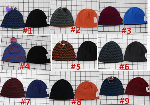 top popular Men Brand Winter Knitted Hat Fashion Beanies Knit Fleece Unisex Reversible Skull Caps Men Both Sides Outdoor Ski Snowboard Hats Casquettes 2019