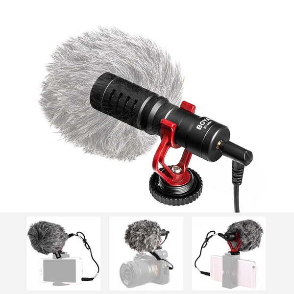 Professional Cardioid Condenser Microphone Studio Sound Mini 3.5mm Video Mic for Phone Tablet PC Canon Nikon Sony DSLR Camera Camcorder
