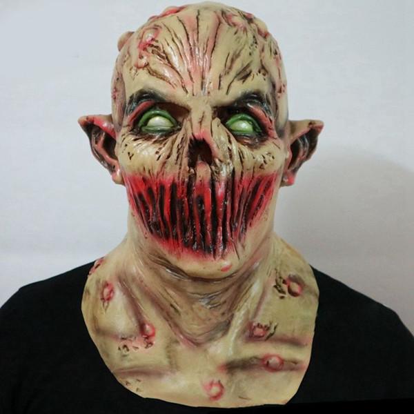 Monstro do dia das bruxas Máscara de Zumbi Assustador Adulto Máscara de Látex Traje Do Partido Do Horror Horror Cabeça Cheia Vampiro Cosplay Masquerade Adereços