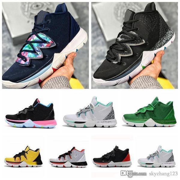 Nike Kyrie 5 BHM sneakers WHITE Hombre Zapatillas Zapatos