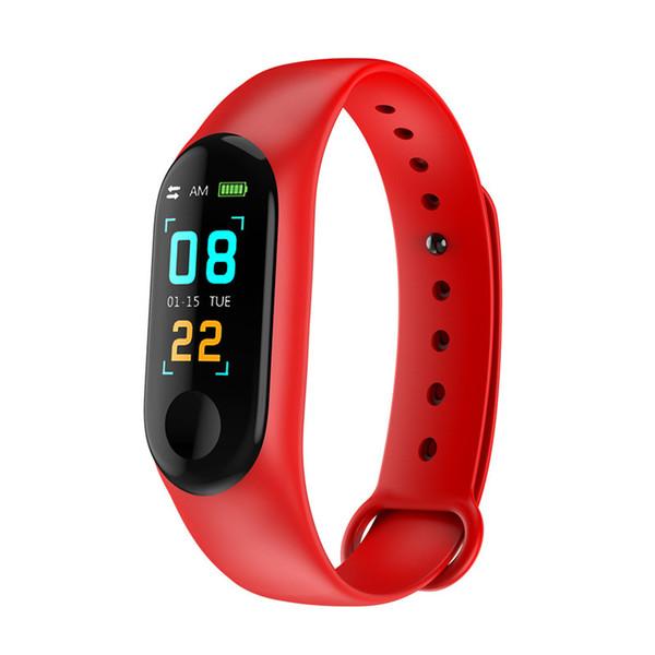 Smart watch M3s Bluetooth Smart Watch Con Bluetooth motion meter registra la frequenza cardiaca pressione sanguigna monitoraggio della salute del sonno impermeabile