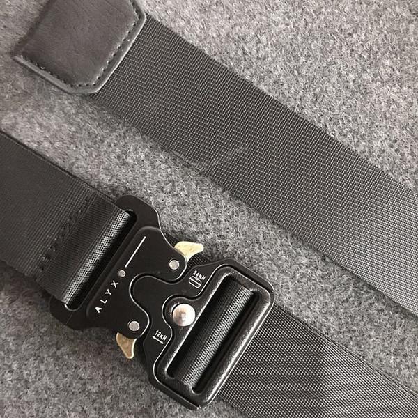 Cintura ALYX Marca Mens Militare Outdoor multifunzionale Formazione Cinturino di alta qualità ceffi Hip Pop Men Off Cintura OW