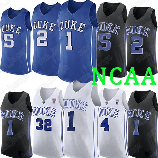 Duke jerseys 1 Zion Williamson jerseys 2 Cam Reddish 5 RJ Barrett 2019 hot sell basketball jerseys
