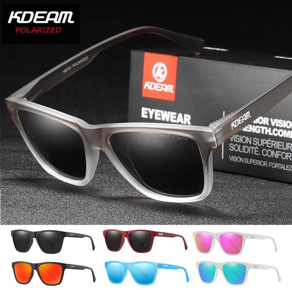 KDEAM Designer TR90 Quadro Polarized Sunglasses Mulheres Lente de Revestimento Reflexivo 7 Cores Homens Óculos UV400 KD731