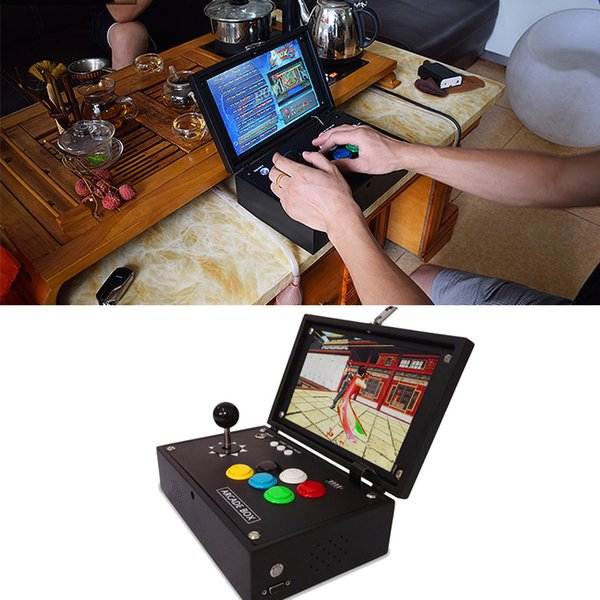 1500 in 1 games console Mini Pandora Box arcade board joystick game controller VGA and HIDM output Metal Box Play With 18650 Battery