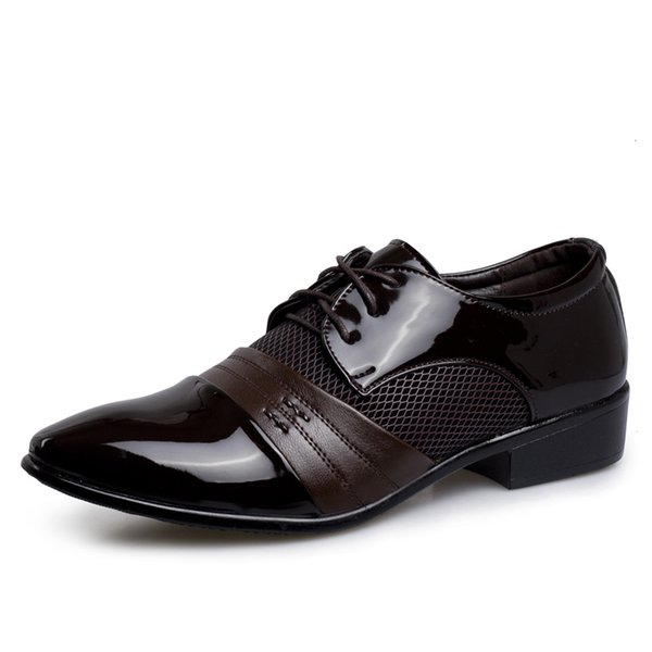 Men's Formal Shoes Lace Up Lightweight Male Classic Business Shoes Black Brown Man Dress Designer Flats Sneakers Plus Size
