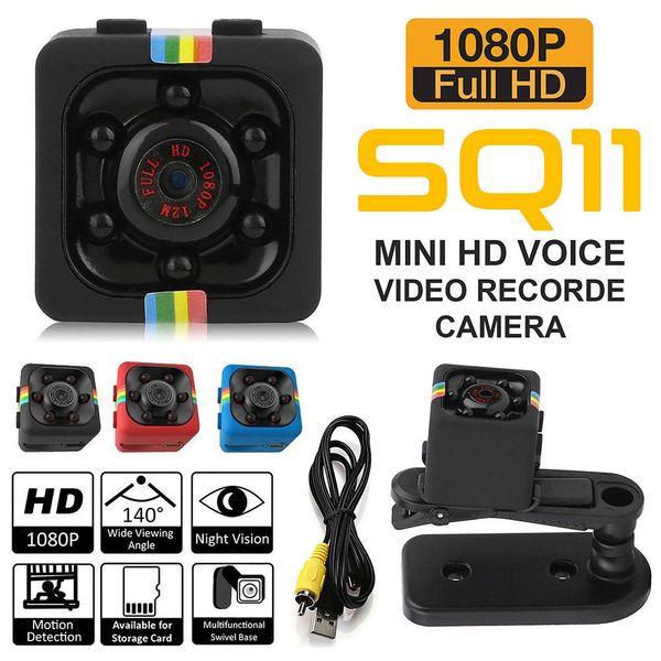 SQ11 Spy Oculto DV DVR Cámara Full HD 1080P Mini Coche DVR Dash Cam IR Visión nocturna DHL Envío gratis