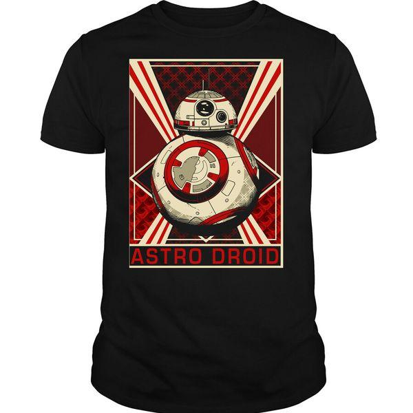 2019 Lustige Astro Droid T-Shirt, Astro Droid Roboter Shirt Unisex-T-Stück