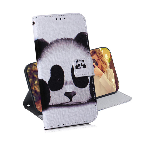 Wallet Case For Samsung Galaxy A10S/A30S/A50S/M30S Filp Cover Coloured pattern Wolf tiger lion Owl Dog With Card Slot Design