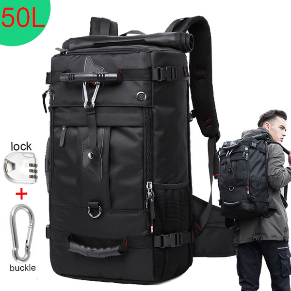 Huge Capacity 50l Waterproof Travel Backpack Men Women Mountaineering Multifunction Male Backpacks Outdoor Luggage Bags