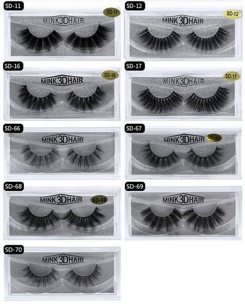 3D Mink False Eyelash Real Siberian Full Strip Fake Eyelash Long Individual Soft Natural Thick Eyelashes Mink Lashes Extension 17styles