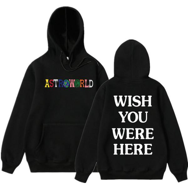 Travis Scott Astroworld BURADA NEREDE OLDU hoodies moda mektup baskı Hoodie streetwear Erkek ve kadın Kazak Kazak