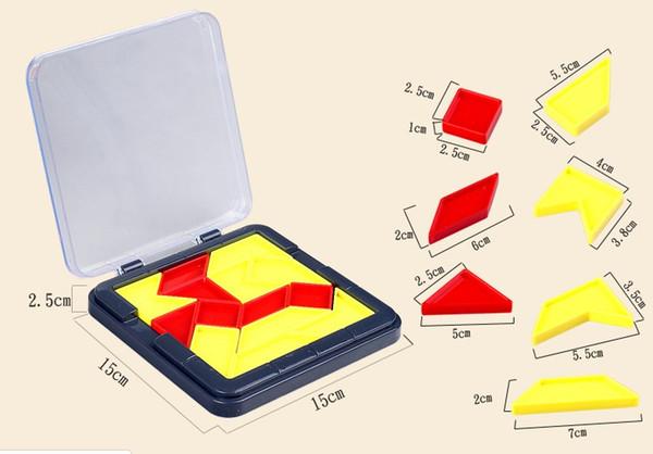 suzakoo puzzles 1pcs Tangram Jigsaw puzzle colorful toy logical thinking intelligence game one pcs