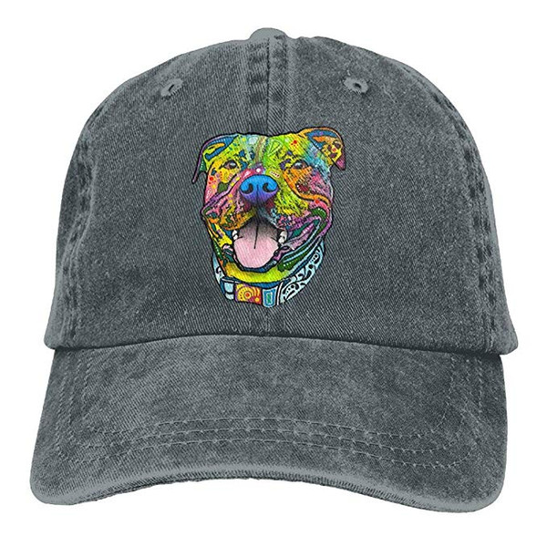 2019 New Wholesale Baseball Caps Print Hat High quality Pit Bull Mens Cotton Adjustable Washed Twill Baseball Cap Hat