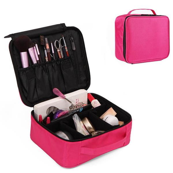 Portable Travel Makeup Storage Bag Dual Layer Case Organizer Waterproof Mini Train Bag LT88