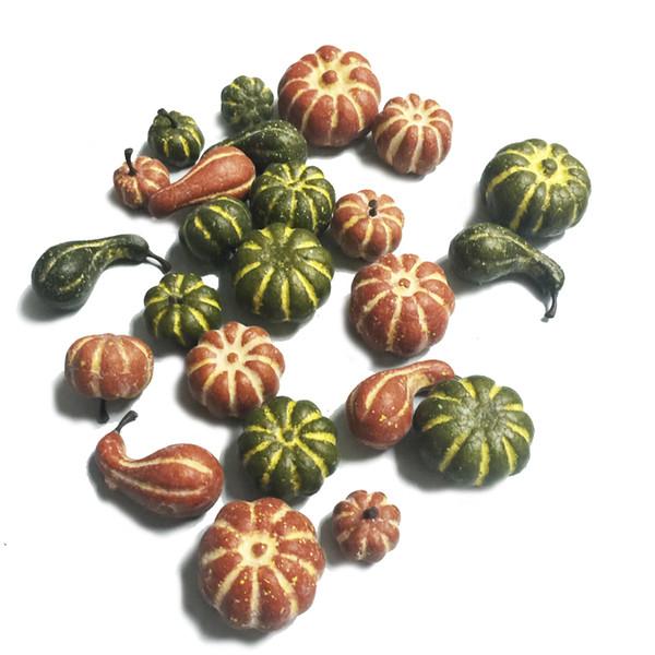 Calabaza pequeña de 24 piezas en una caja de pvc para la cosecha Casa y jardín Decoración de Acción de Gracias