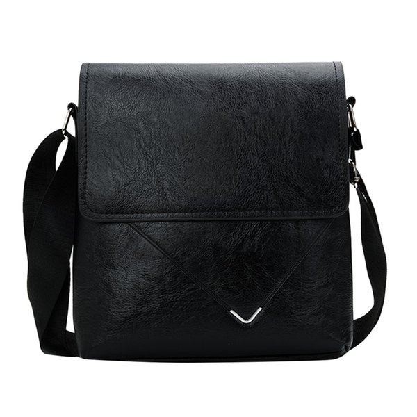 Homens Negócios Saco de Couro Sintético Crossbody Bag Clássico Saco Do Mensageiro Diagonal Cross Briefcase Para Homens 10H