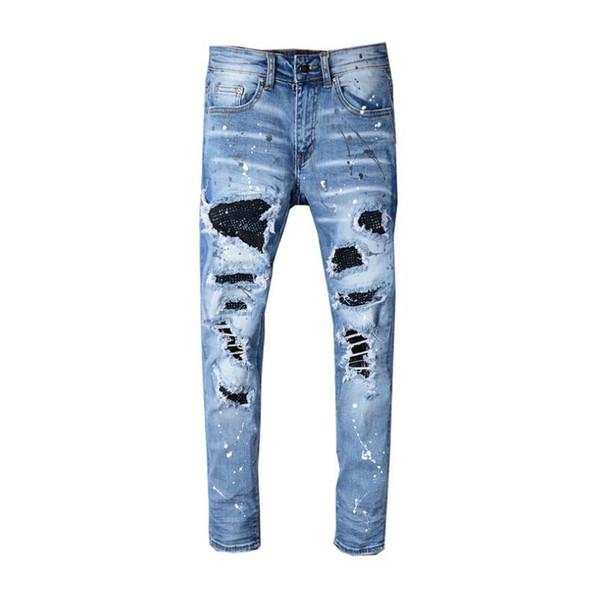 Pantalones de diseñador para hombre Pantalones de chándal pitillo casuales de nuevo estilo Pantalones vaqueros de diseñador para hombre Pantalones de jogging con entrepierna caída Pantalones vaqueros para hombre