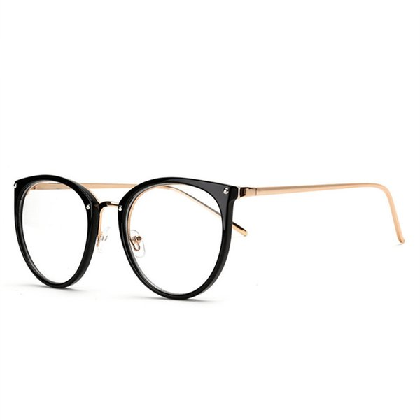 Oversize Clear Lens Cat Eye Glasses Frame Women Fashion Oversized Spectacle Frames Transparent Optical Eyeglasses Eyeglasses