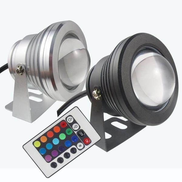 LED Подводный Свет RGB 10 Вт 12 В СВЕТОДИОДНЫЕ Подводные Огни 16 Цветов 1000LM Водонепроницаемый IP68 Фонтан Лампы Украшения Партии CCA11730 10 шт.