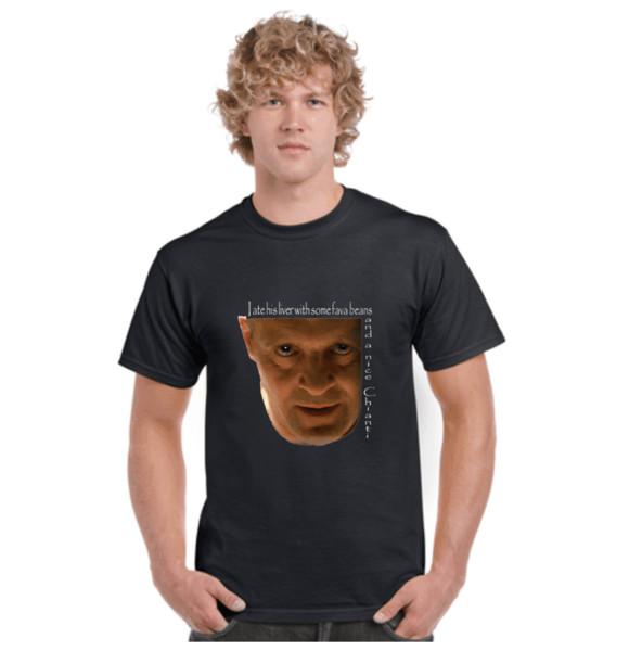 RUHE DER LÄMMER, LUSTIG, ZITATE, FILME, T-SHIRTS, T-STÜCKE, HORROR, HALLOWEEN-Art Rundes Artt-shirt T-Stücke Kundenspezifisches Jerseyt-shirt
