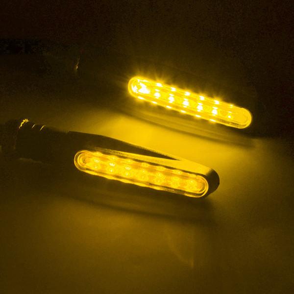 Shenlao 4PCS Indicatori di direzione del motociclo Indicatore di direzione della luce Flasher flessibile che lampeggia in moto Lampade moto