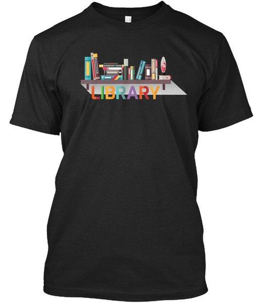 Makine Yıkanabilir Kütüphane - Stylisches T-Shirt 2019 Yeni T-Shirt Erkek Giyim Yüksek Kaliteli Gömlek