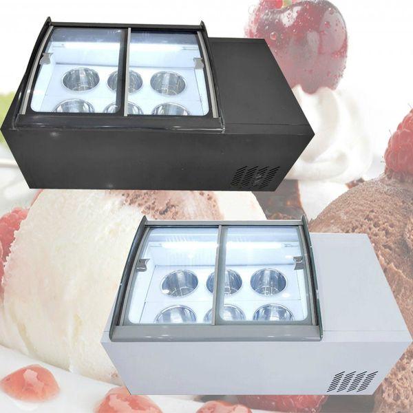 best selling Desktop ice porridge cabinet commercial ice cream display cabinet for cold drinks shop store supermarket ice cream display cabinet