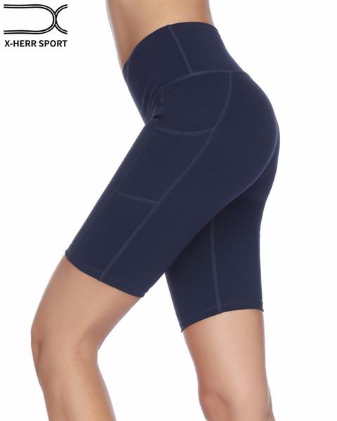 Mujeres Yoga Fitness Entrenamiento Deportivo Quinto Pantalones Cortos  Leggings Deporte Mujeres Fitness Estiramiento Correr Pantalones Cortos c6400a6a1052