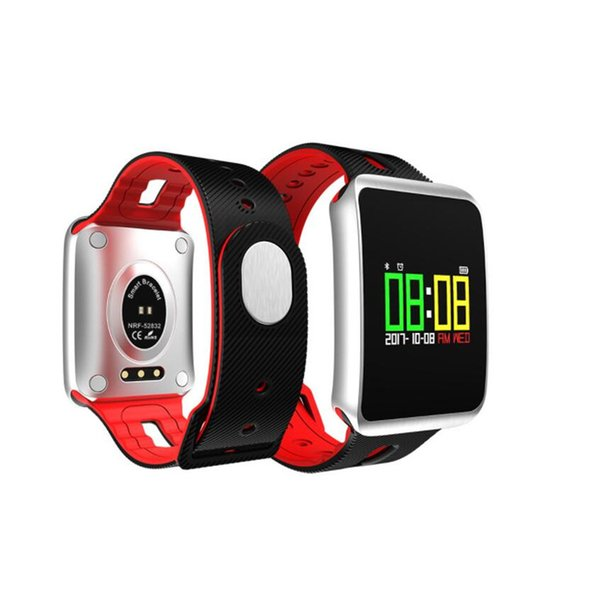 New TF1 touch color screen Bluetooth waterproof heart rate blood oxygen sleep monitoring gift sports smart watch bracelet FOR:IPHONE