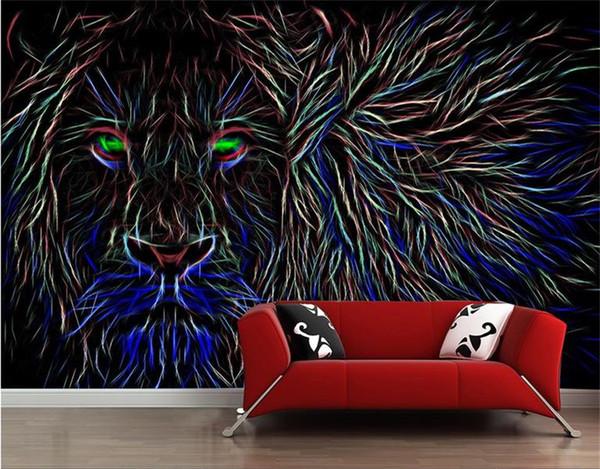 Tamanho personalizado 3d foto papel de parede sala de estar mural estilo Europeu gelion tigre 3d imagem sofá TV pano de fundo papel de parede não-tecido adesivo de parede