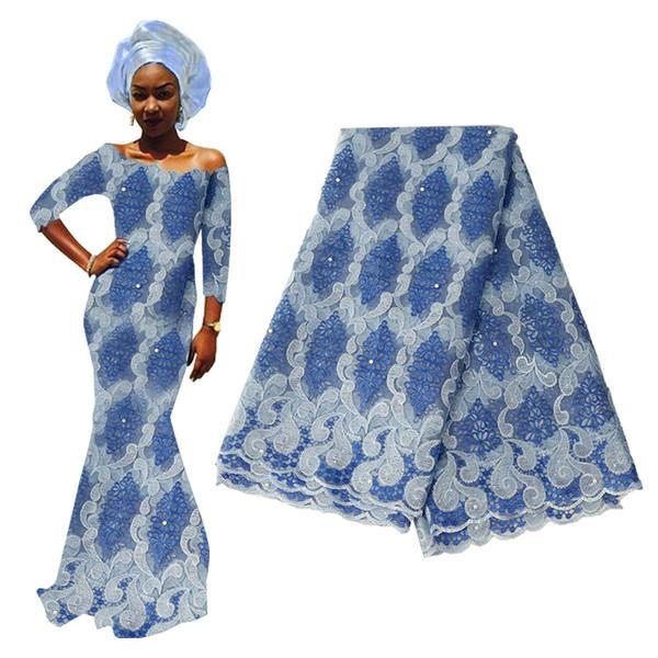 Material de encaje de tul francés rojo 2020 Tela de encaje de tul nigeriano de alta calidad para bordado de boda nigeriano Tela de encaje africano
