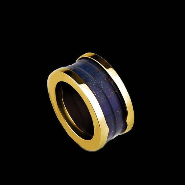 Anelli di cerimonia nuziale dei monili fini di vendita 2015 di vendita superiore Miranda Kerr con l'anello laterale all'ingrosso dei monili dell'anello del metallo di titanio di marmo all'ingrosso