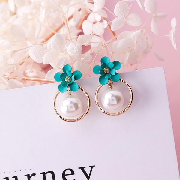 2019 novo design de moda marca de jóias elegante flor pérola borla brincos para mulheres brinco estilo coreano versão para o verão