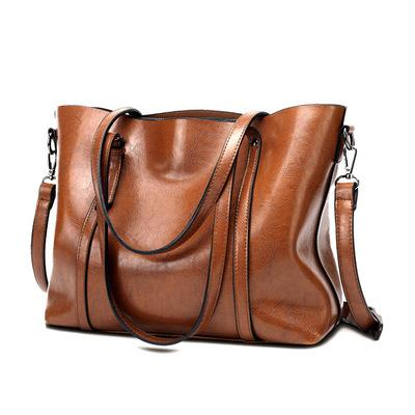 Europe and the United States winter new tote bag fashion big bag export Africa oil leather handbag shoulder bag