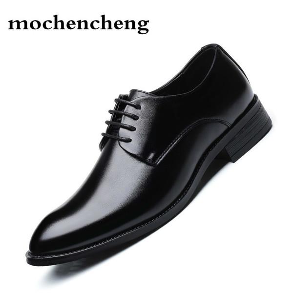 Men Dress Shoes Men Formal Shoes Leather Luxury Wedding Oxford Big Size 38-47
