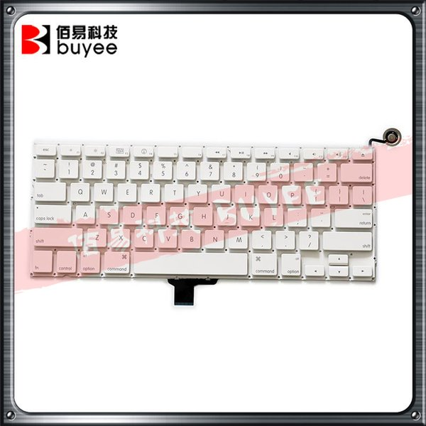 """Original A1342 US UK France Spanish Keyboard For Macbook """" White A1342 US UK FR SP Keyboards Layout Replacement"""