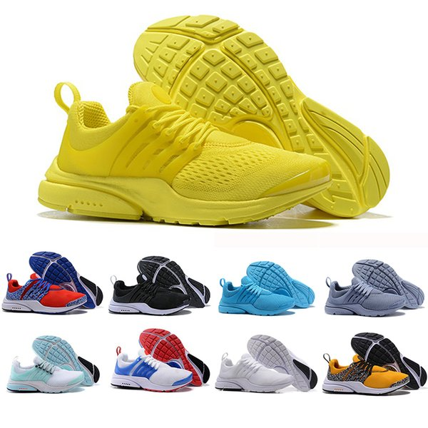 Cheaper New Presto Running Shoes Men Women Ultra BR QS Yellow Red Prestos Black White Oreo Outdoor Jogging Brand Mens Trainers Sneakers