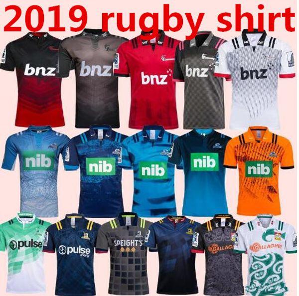 2018 2019 CRUSADERS 2018/19 Chiefs Super Rugby Jersey 18 19 Nuova Zelanda super Chiefs Blues Crusaders Highlanders training shirt TAGLIA: S-3XL