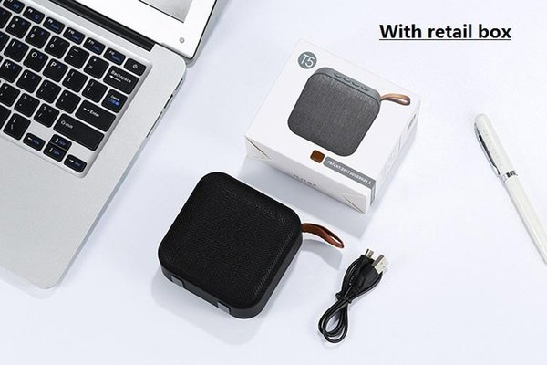 2019 New wireless Bluetooth mini speaker Portable card aux usb input subwoofer mobile audio box with mic and retail box