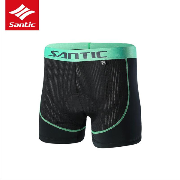 Santic Men Cycling Shorts Padded Underwear Downhill Mountain Bicycle Shorts 4D Pad Shockproof Underwear Sponge cushion