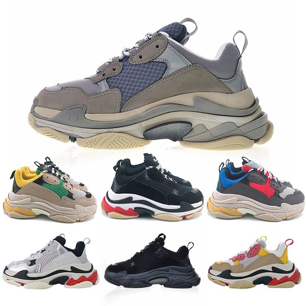Women Multi Luxury Triple S Sneakers Combination Soles Fashion Mens Running Shoes Gray white pink black Classic Sports Casual Designer Shoes