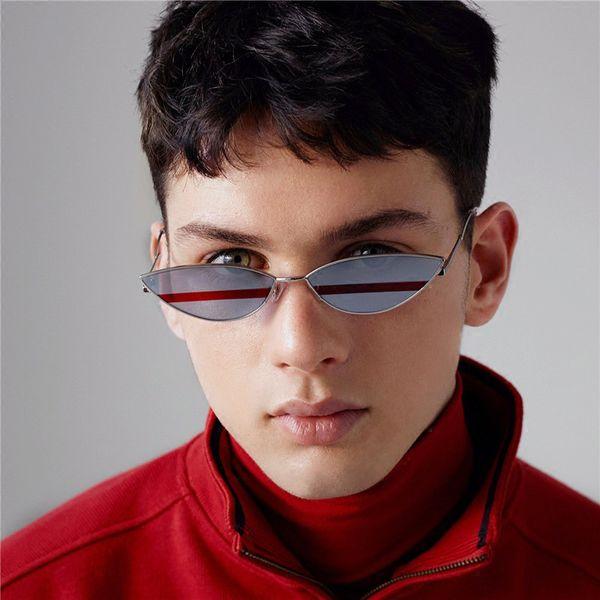 Unisex cat eye sunglasses mulheres retro pequeno óculos de sol dos homens 2019 armação de metal marca designer de verão óculos para feminino uv400