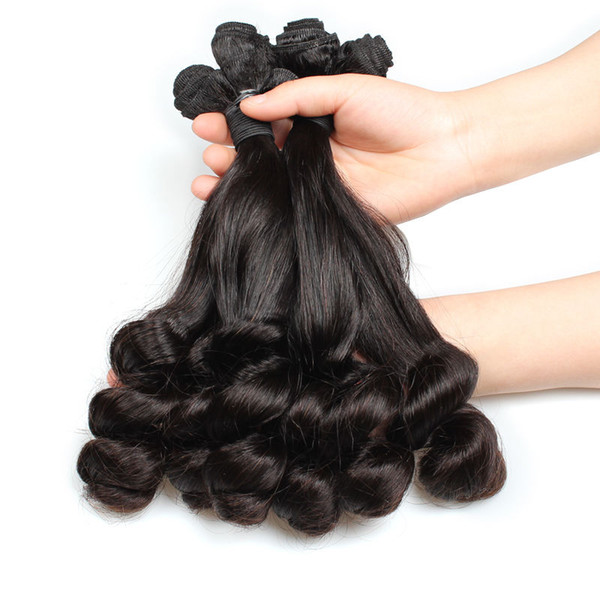 Top Quality Beauty On Line 3 Bundle Straight-Loose Wave Spring Fummi Curly Hair 8-28 Inch Cheap Brazilian Virgin Human Hair Extensions