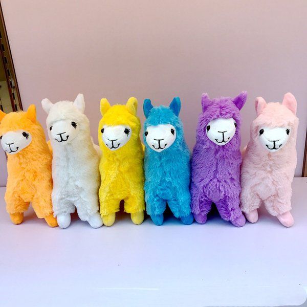 6 couleurs 23cm alpaga peluche poupées jouets en peluche belle maison enfants poupées jouets cadeaux de fête pour enfants T3I5515