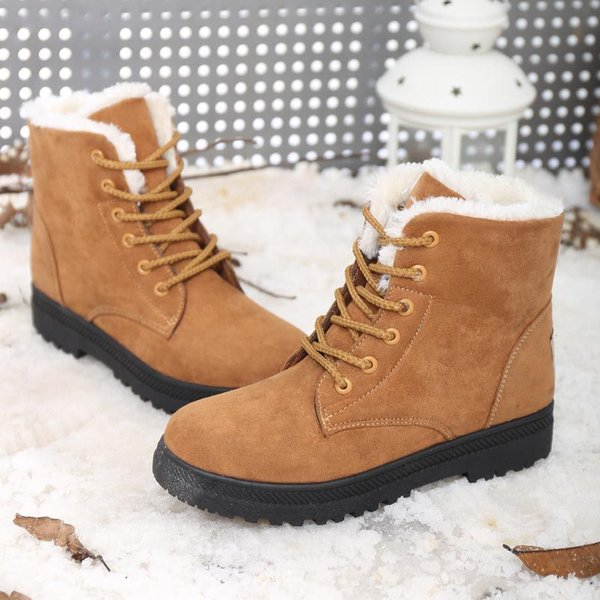 Winter Snow Boots Women Plus Velvet Warm Boots Couple Models Winter Boots Casual Large Size Cotton Shoes Size 34-44