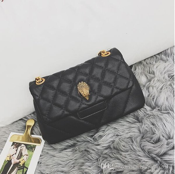 Direct brand women handbag classic diamond messenger bag street trend embroidered line leather shoulder bag eagle head buckle fashion cha